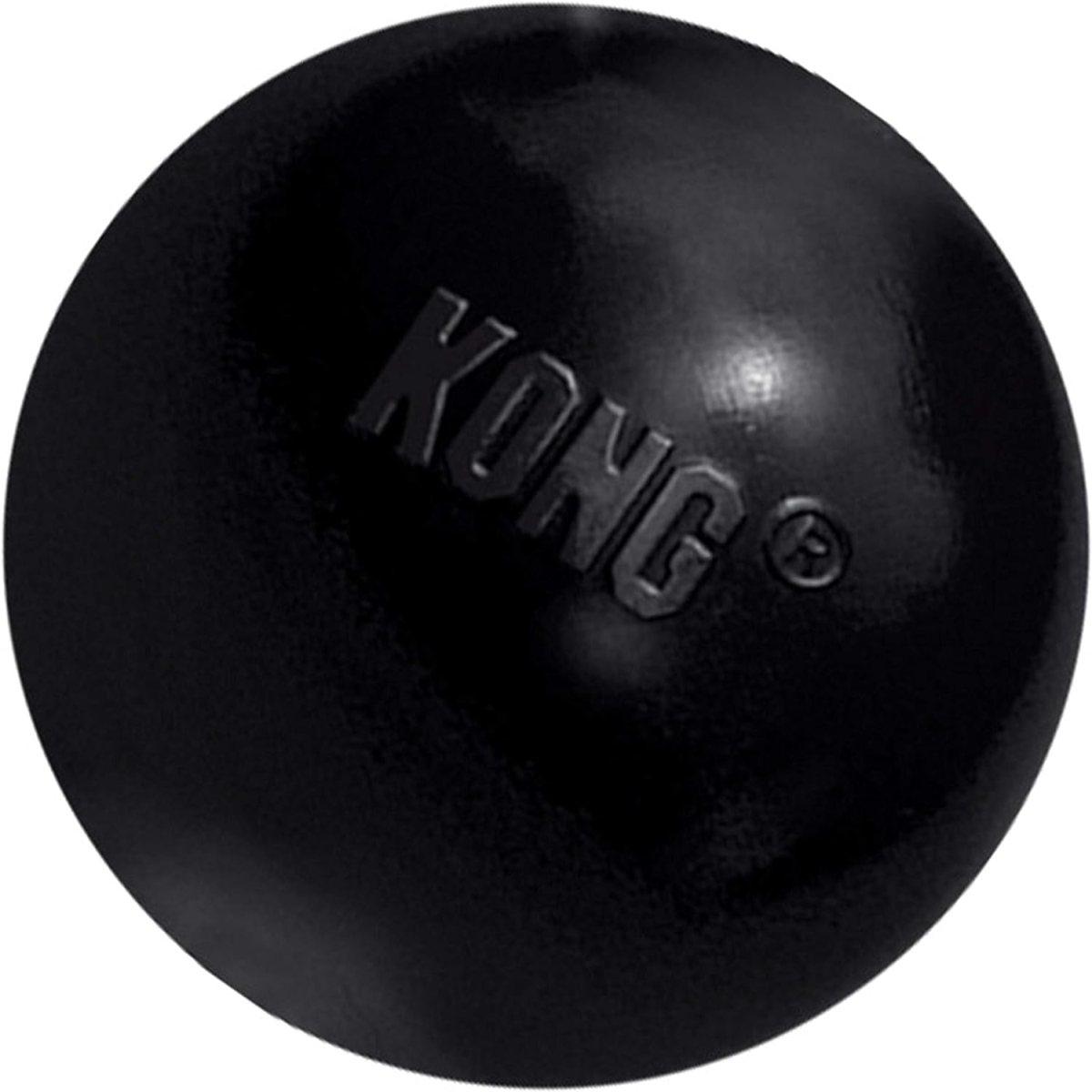 KONG - Extreme Ball - Juguete de caucho para mandíbulas potentes, negro - Raza mediana/grande