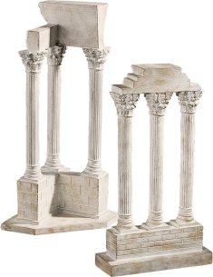 Design Toscano AH922818 Roman Forum Columns Set in Stone, antique stone