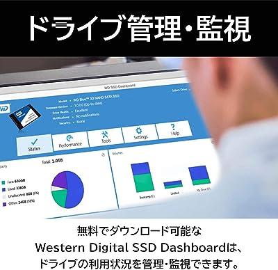 Western Digital M.2 SSD WD Blue SN550 ドライブ管理・監視ソフト Western Digital SSD Dashbord
