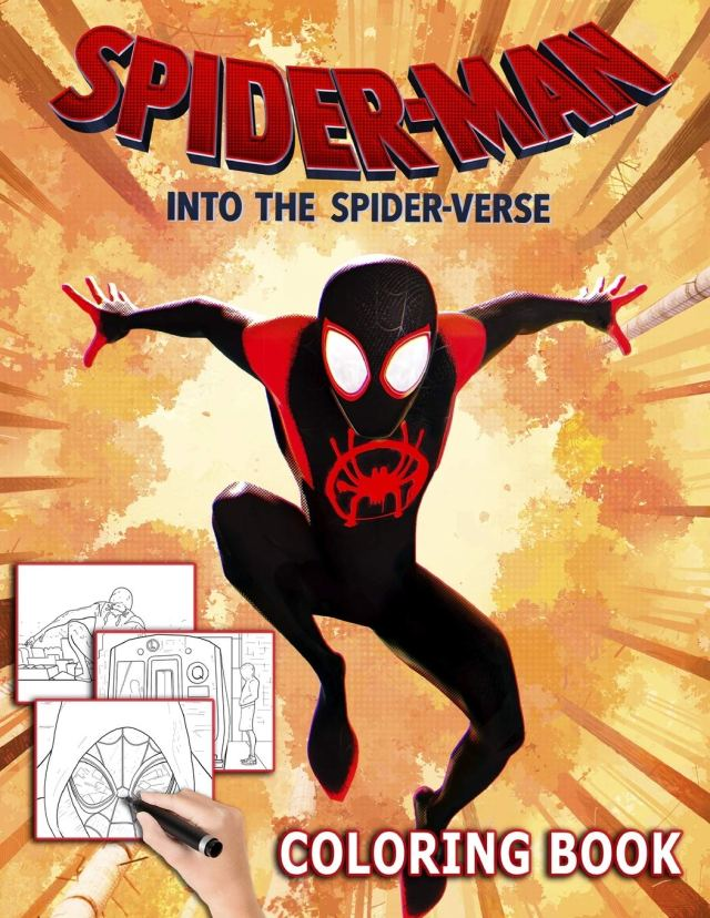 Spider-Man Into the Spider Verse Coloring Book: 8 Awesome