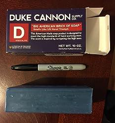 Duke Cannon Men's Bar Soap - 10oz. Big American Brick Of Soap By Duke Cannon - Naval Triumph Customer Image 1