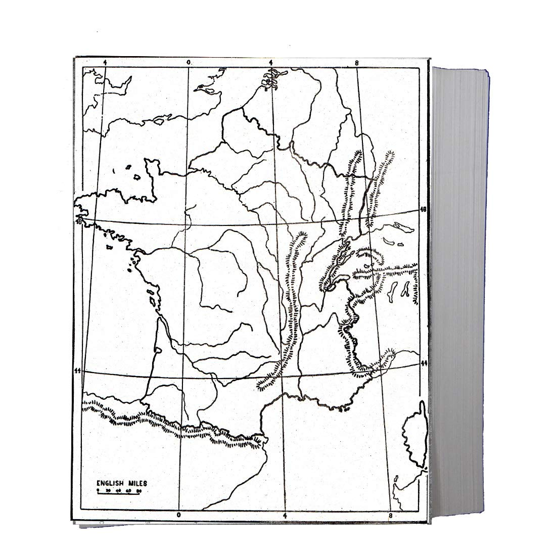 Craftwaft Blank Outline Map Of France For Map Pointing Pack Of 100 Amazon In Office Products