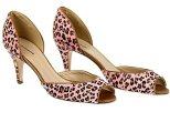 J Crew Annette Calf Hair Peep-Toe Heels Size 8.5 Style# 67274 Romantic Pink New