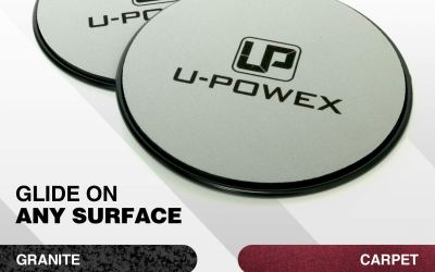 UPOWEX Exercise Sliders – Dual Sided Core Sliders