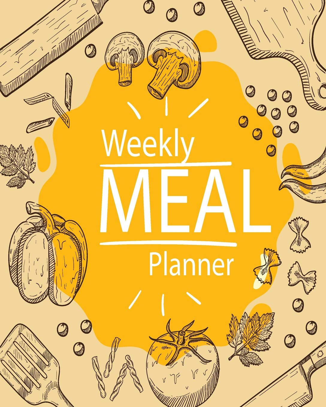 Weekly Meal Planner: 52 Week Food Planner & Grocery list Menu Food Planners Prep Book Eat Records Journal Diary Notebook Log Book Size 8x10 Inches 104 Pages (Volume 2) 1