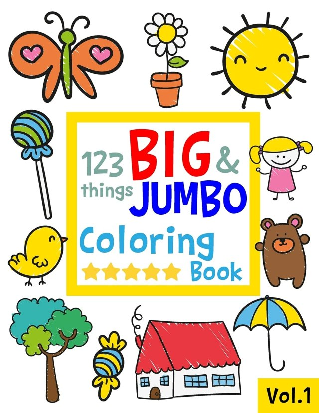 26 things BIG & JUMBO Coloring Book: 26 Coloring Pages!!, Easy