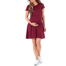 Women's Ponte Skater Maternity Dress by Mother Bee - Made in USA