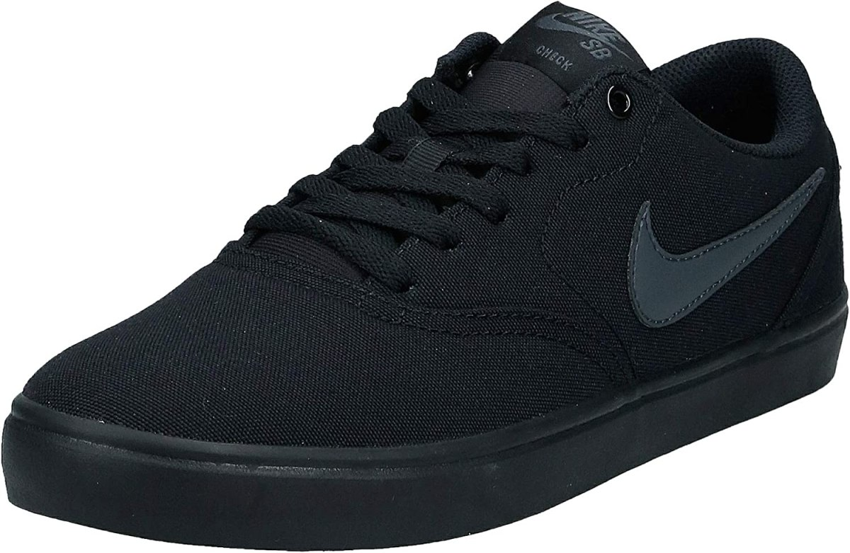 Nike Unisex SB Check Solar CNVS Black/Anthracite Skate Shoe 9.5 Men US/11 Women US