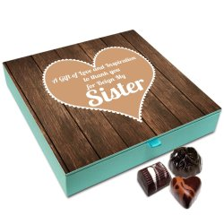 Chocholik Rakhi Gift Box – A Gift of Love Chocolate Box for Sister – 9pc