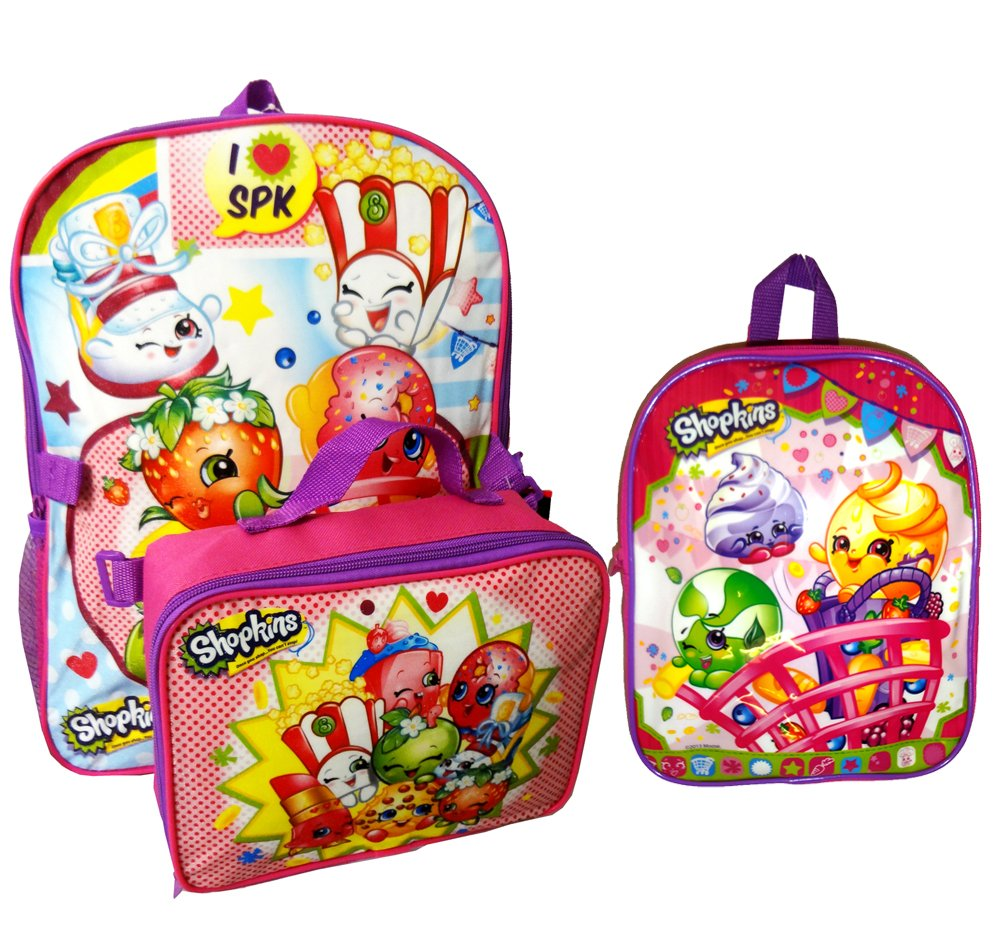 Shopkins Backpacks and Lunch Box Value Set (16