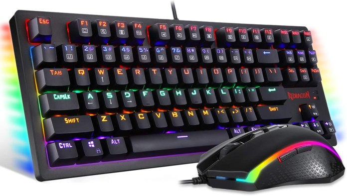Amazon Com Redragon S113 Gaming Keyboard Mouse Combo Wired Mechanical Led Rgb Rainbow Keyboard Backlit With Brown Switches And Rgb Gaming Mouse 4200 Dpi For Windows Pc Gamers Computers Accessories