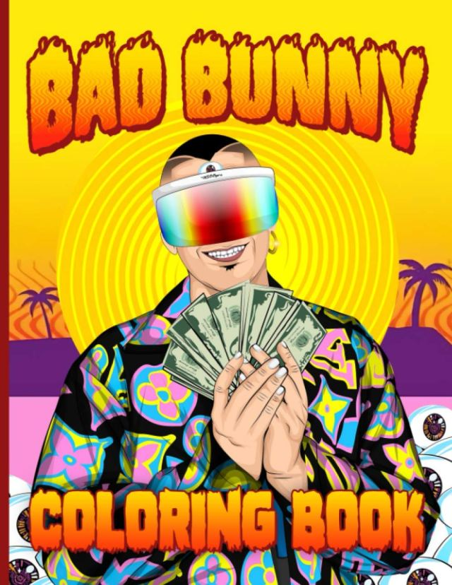 Bad Bunny Coloring Book: Color Wonder Relaxation Bad Bunny