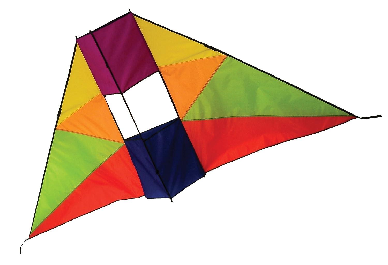 In the Breeze Rainbow Conyne Delta Kite, 6-Feet