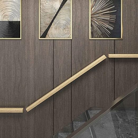 Amazon Com Stair Handrail Solid Wood Stair Handrail Exterior | Wood Railings For Steps | Deck | Stairwell | Nautical Rope | Outdoor | Easy