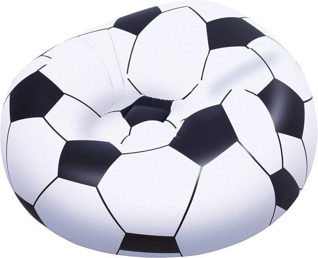 Bestway 75010 - Poltrona Pallone Calcio, 114 x 112 x 66 Cm Image