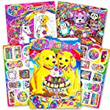 Lisa Frank Coloring Book and Stickers Super Set (3 Books with Over 30 Lisa Frank Stickers)