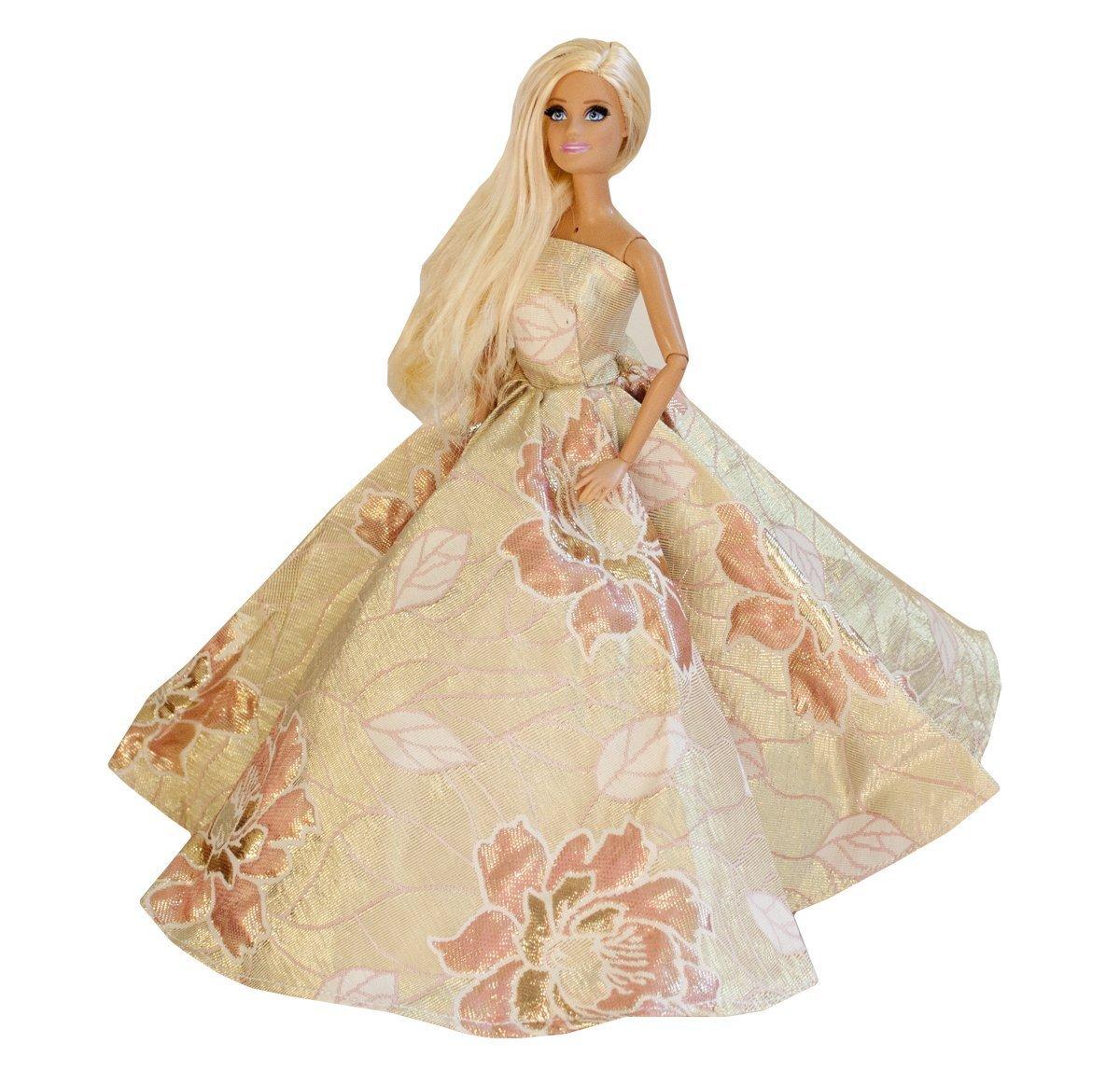 Barbie Golden Lotus Gown