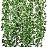 Woooow 242 Feet 36 Strands Artificial Ivy Garland(6.7feet/Strand) Fake Ivy Artificial Ivy Leaves Greenery Garlands for Home Kitchen Wedding Wall Outdoor Garden Decor