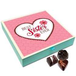 Chocholik Rakhi Gift Box – Best Sister Ever Chocolate Box for Sister – 9pc