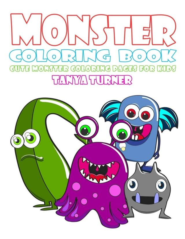 Monster Coloring Book: Cute Monster Coloring Pages for Kids