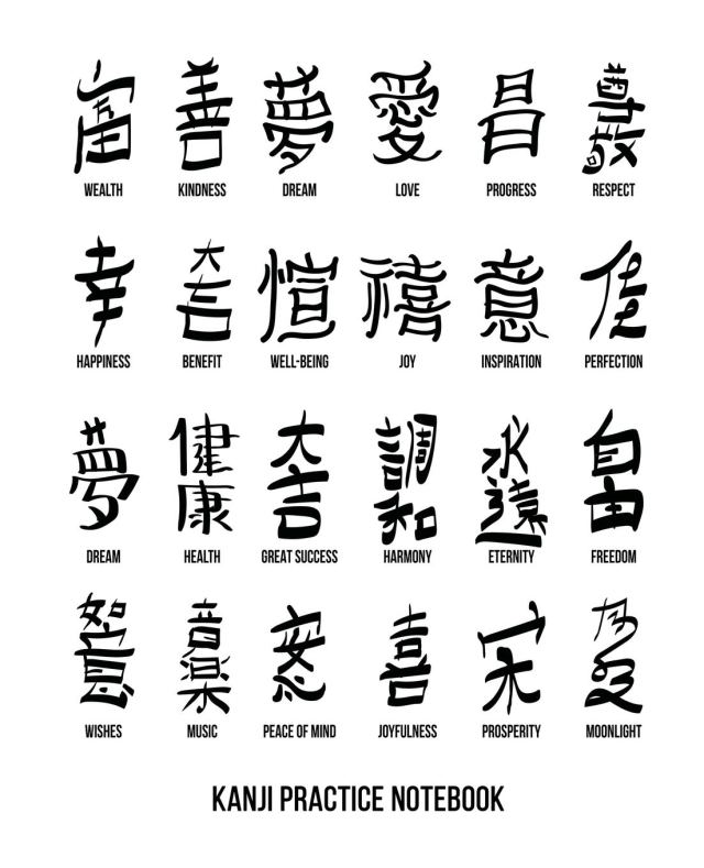 Kanji Practice Notebook: Genkouyoushi Paper Japanese Language