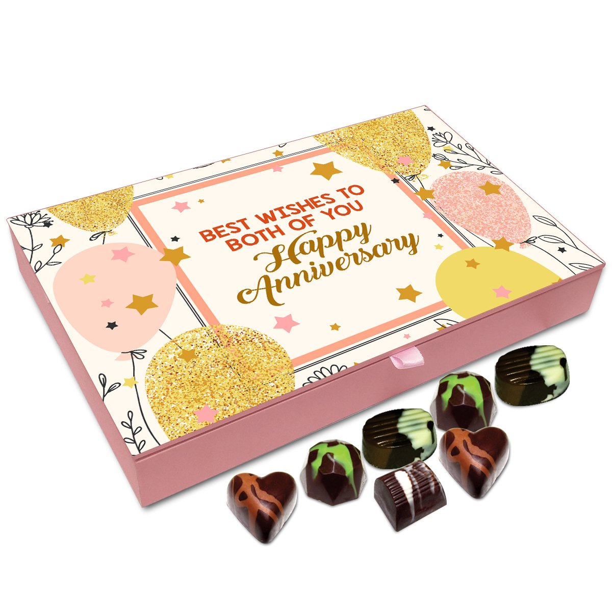 Chocholik Anniversary Gift Box – On This Anniversary Best Wishes for The Lifetime Chocolate Box – 12pc