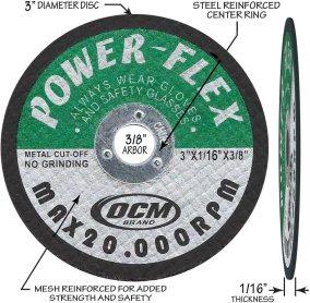 Best cut off wheel for fiberglass - OCM Brand