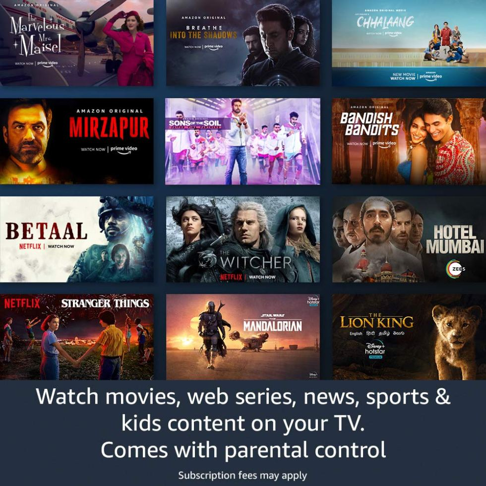 Watch movies, web series, news by latest Amazon Fire TV