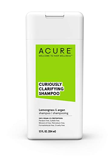 Acure Curiously Clarifying Shampoo With Lemongrass & Argan, 12 Oz