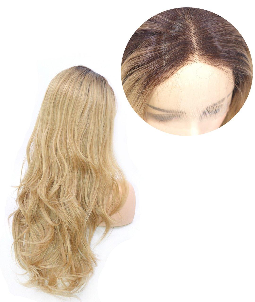 peluca rubia de ondas