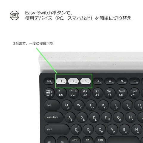 Logicool K780 Easy-Switchボタン