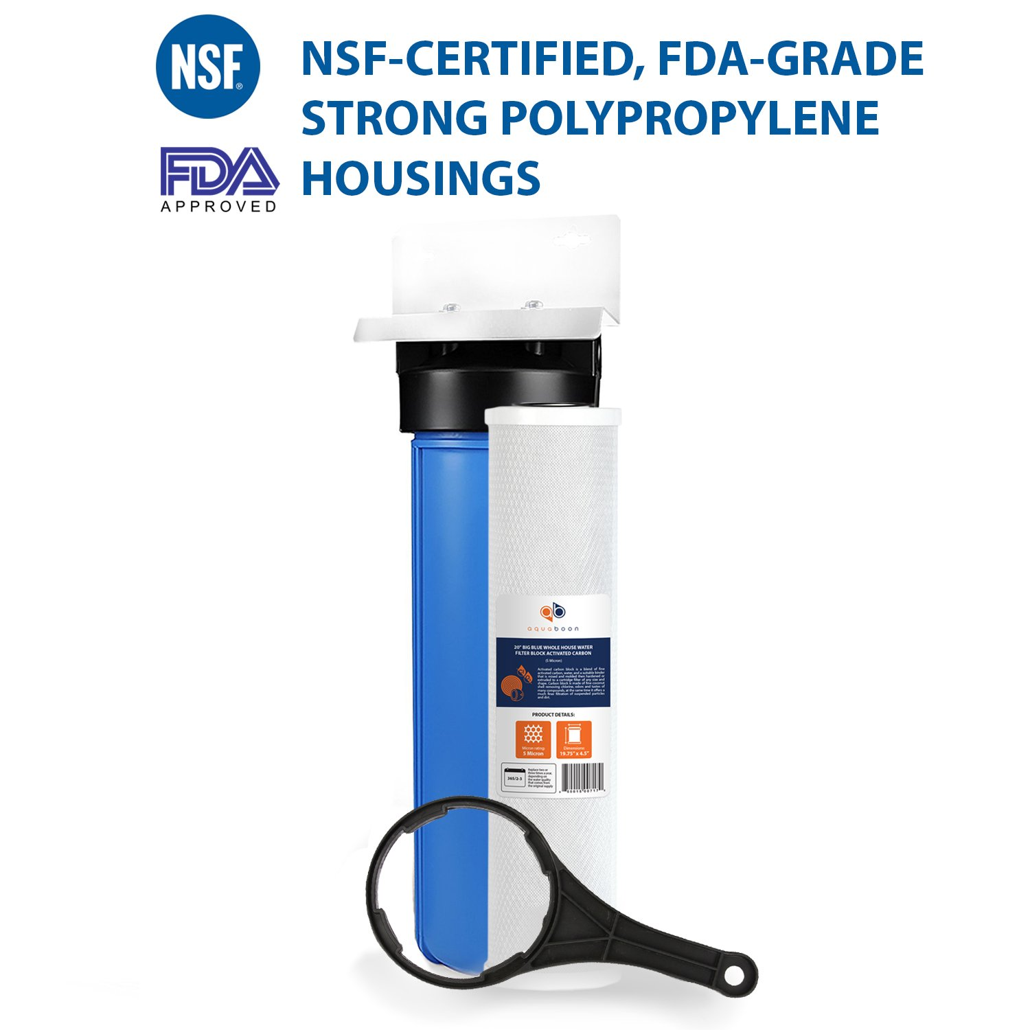 """Big Blue 20"""" Whole House Water Filter System"""