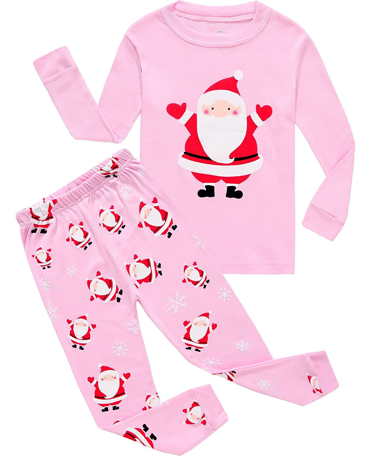 IF Pajamas Christmas Tree Little Girl Pjs Long Sleeve Kid Pajamas