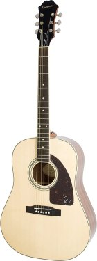 Epiphone AJ-220S Solid Top Acoustic Guitar, Natural