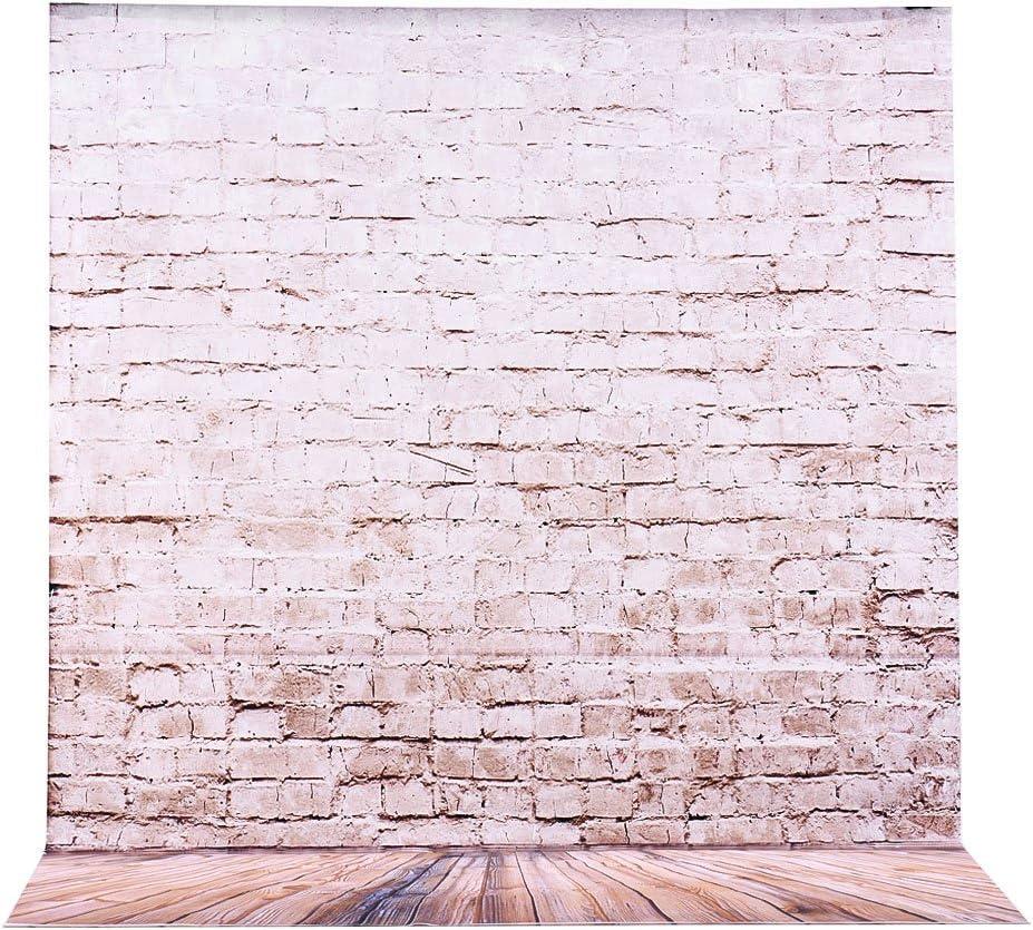 Andoer 2 * 3m/6.6 * 9,8 ft Photographie Grand Toile de Fond Background brique parquet Pattern pour Bébés Nouveau-nés Adulte Vidéo Studio