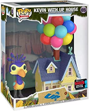 Amazon Com Pop Funko Town Disney Pixar Kevin With Up House 05 2019 Fall Convention Limited Edition Toys Games