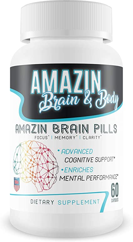 Amazon.com: Amazin Brain Pills - Focus - Memory - Clarity - Advanced Cognitive Support - Enriches Mental Performance - Amazin Brain Supplement for Amazin Brain Support - Nootropics Brain Enhancement: Health & Personal Care