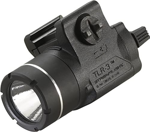 Streamlight 69220 TLR-3 Weapon Mounted Tactical Light with Rail Locating Keys - 125 Lumens