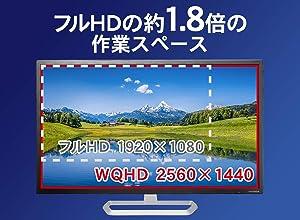 I-O DATA EX-LDQ322DB 解像度は2,560×1,440