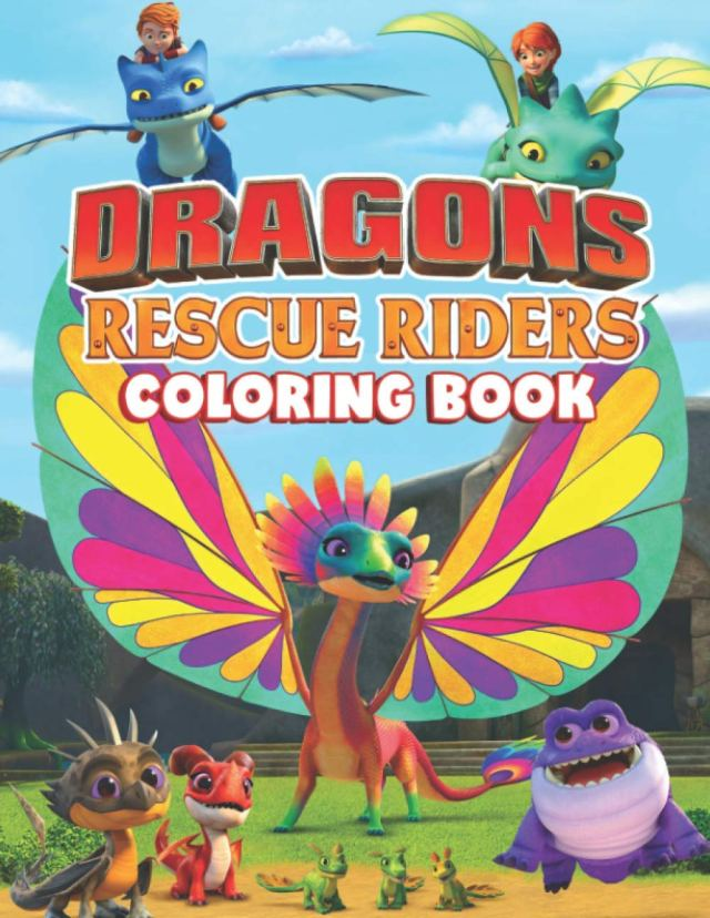 Dragons Rescue Riders Coloring Book: A Book With High Quality Of