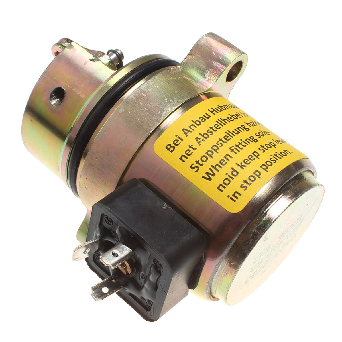 Transmission Solenoid Holdwell Fuel Shut Off Solenoid 04170534R for Deutz BF4M1011F Bobcat Skid Steer Loader 12Vdc