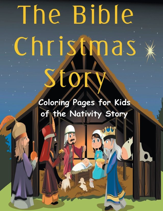 Amazon.com: The Bible Christmas Story: Coloring pages for Kids of