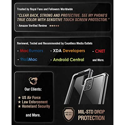 Buy Poetic Guardian Case Designed For Samsung Galaxy A52 4g 5g Built In Screen Protector Work With Fingerprint Id Full Body Hybrid Shockproof Bumper Cover Case Black Clear Online In Indonesia B08tp3j281