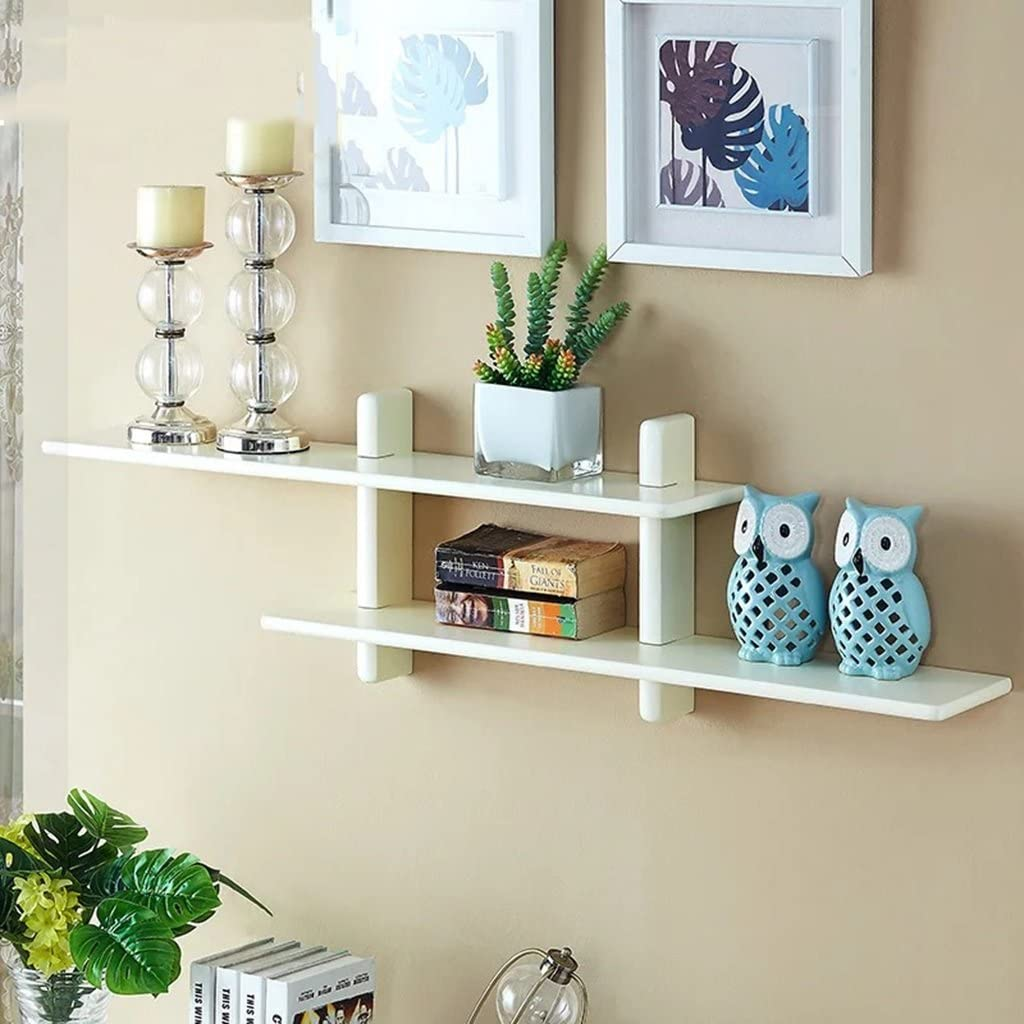Simple modern wall shelves solid wood wall-mounted living room TV