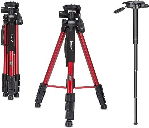 Jmary Techlife 2264 Upto 6ft Height Professional Aluminium Tripod, Monopod for All DSLR Cameras (Black)
