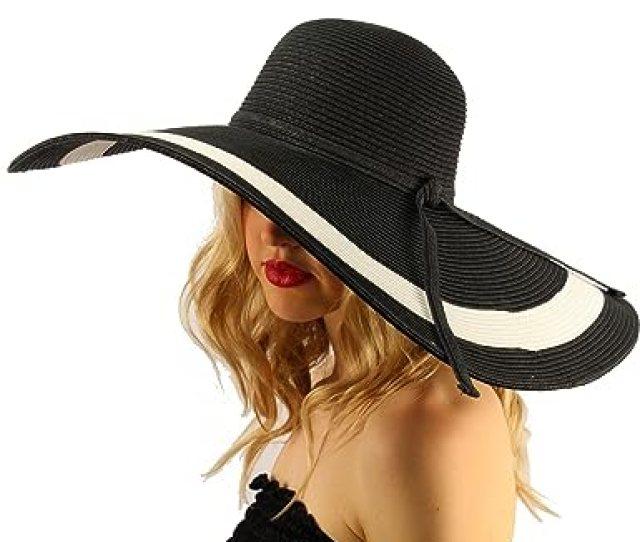 Summer Elegant Derby Big Super Wide Brim 8 Brim Floppy Sun Beach Dress Hat 7