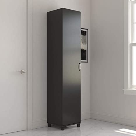 Realrooms Basin 24 Wall Storage Cabinet Black Kitchen Pantry And Bathroom Organizer