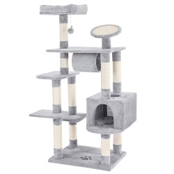 SONGMICS Large Cat Tree Condo Multi-level Cat Tower with Scratching Post Pad