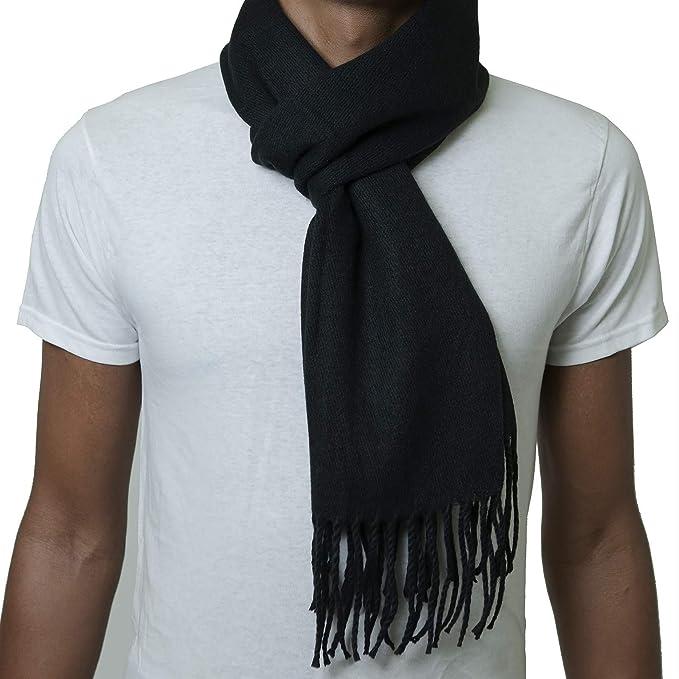 Bufanda negra elegante para hombre https://amzn.to/2zMjwJ1