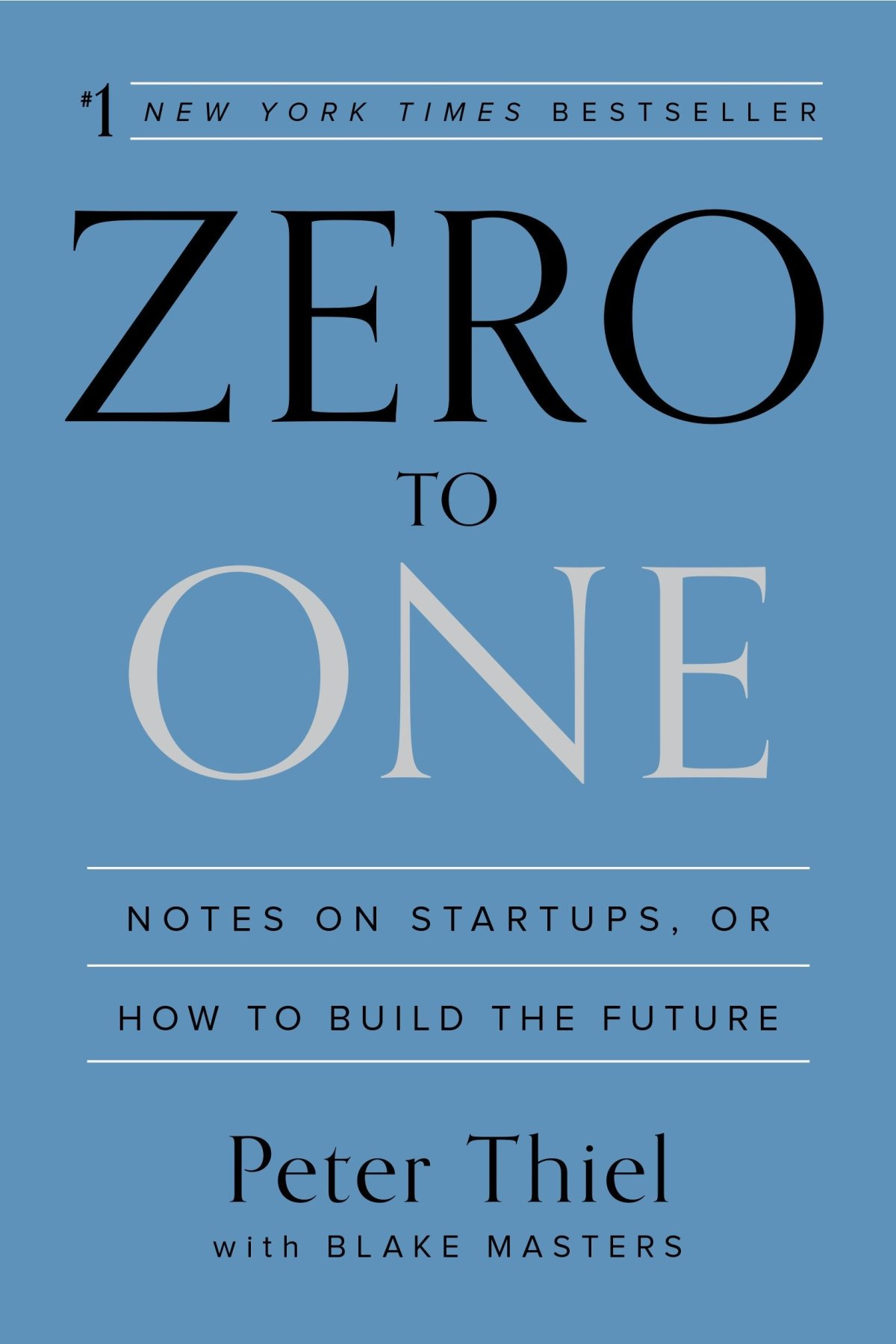 Zero to One: Notes on Startups, or How to Build the Future: Thiel, Peter,  Masters, Blake: 9780804139298: Amazon.com: Books